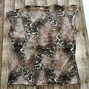toomi Tops - Toomi leopard print surplice neck blouse in Large